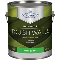 099100, Tough Walls Acrylic Paint & Primer, Coronado Paint Co., Semi-Gloss, available in all colors, low VOC, stain resistant, use for interior