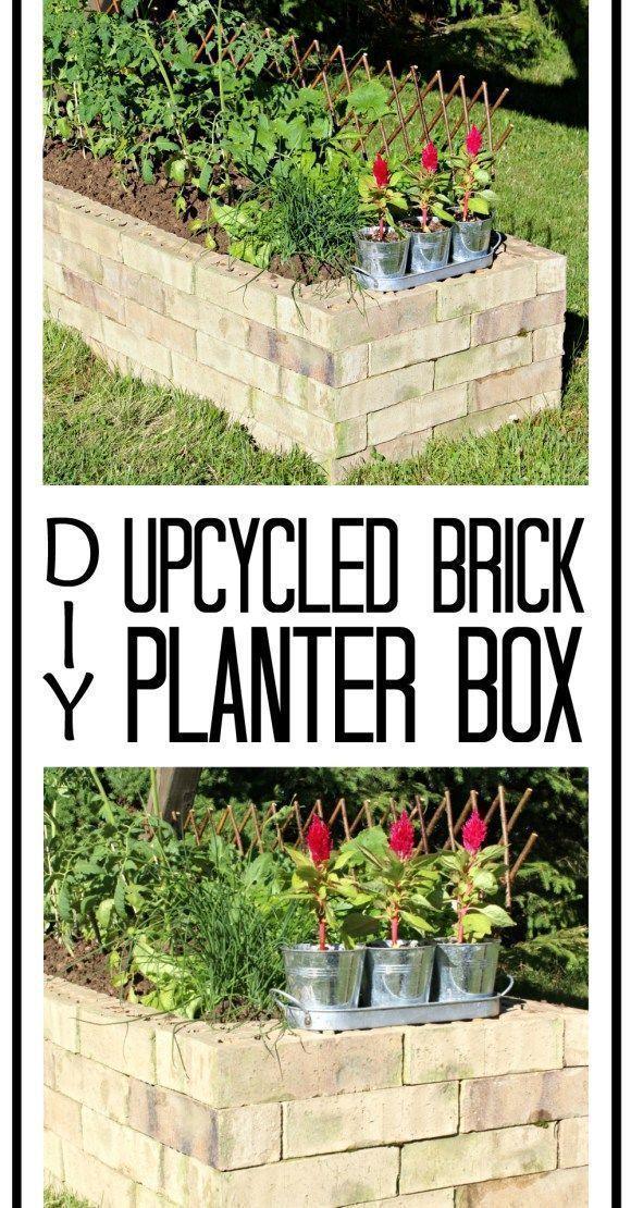 Diy Upcycled Brick Planter Box Pinterest Brick Planter Bricks