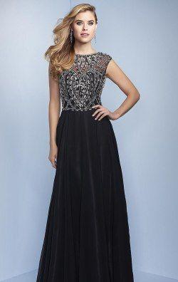 Beaded Chiffon Gown by Splash by Landa Designs J580