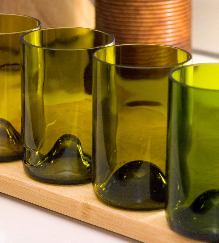 Recycled Green Ombre Glasses