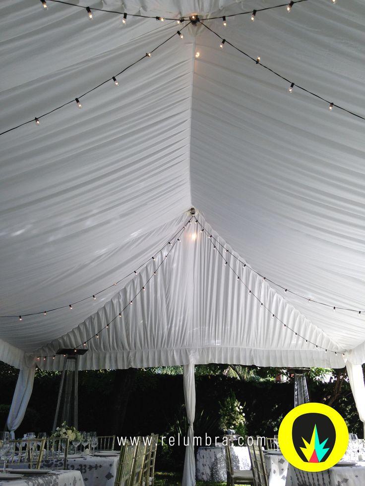 Rieles de luz Relumbra para decorar toldos o salones para eventos