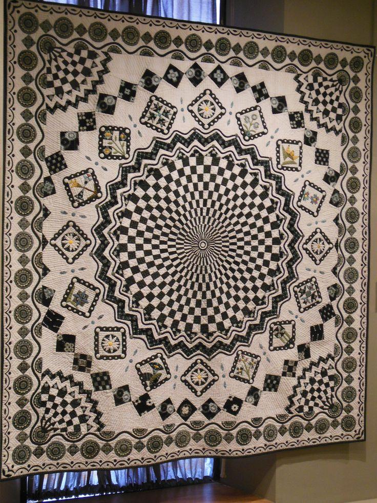 Vortex medallion quilt.                                                                                                                                                                                 More