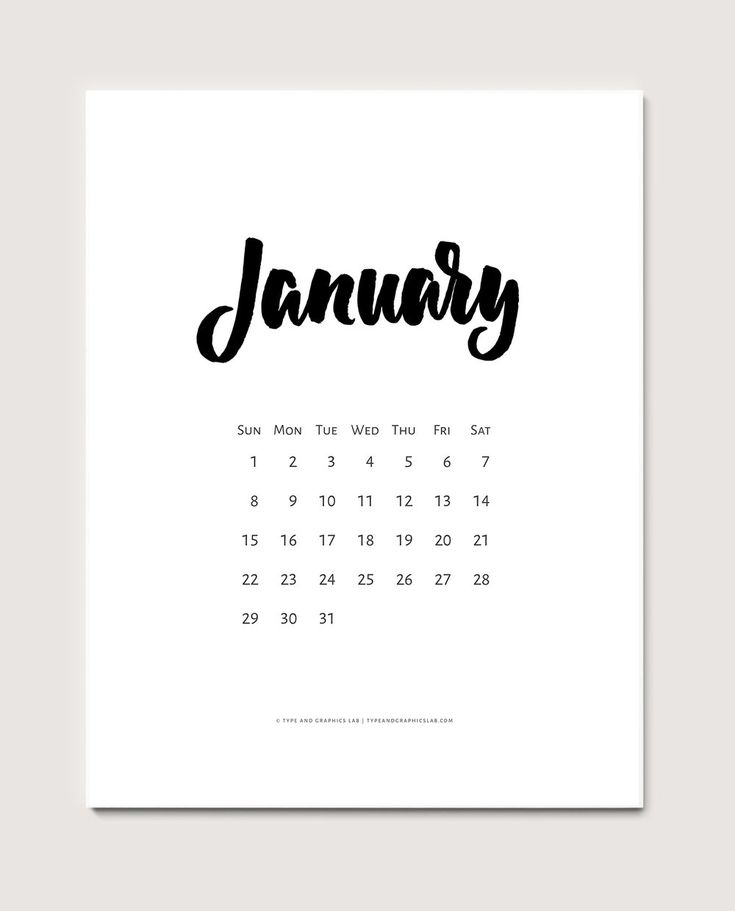Free printable calendar for January 2017. For personal use only | © typeandgraphicslab.com
