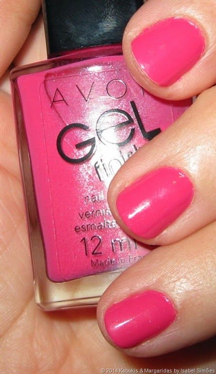 Verniz Avon Gel Finish na tonalidade Parfait Pink