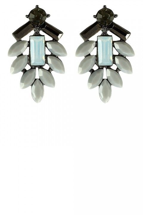 Coast Vita Grey Faceted Earrings, £12 The quickest way to transform even the simplest outfits is with a pair of chic earrings. We love the neutral blue tones in this pair, and think these would look best worn with a navy midi-dress and a coral lip   Read more at http://www.marieclaire.co.uk/fashion/ideas/24594/winter-wedding-guest-outfits.html#ByX9Ib3eveByCoIs.99