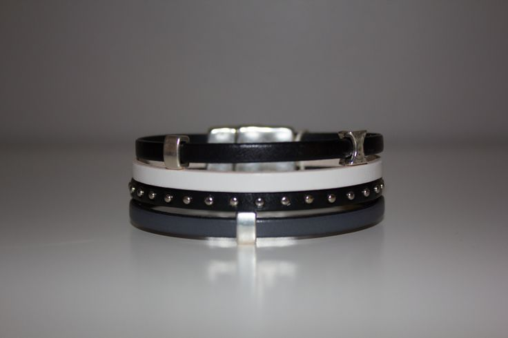 HalaBay Design bracelet! Studs & Leather!