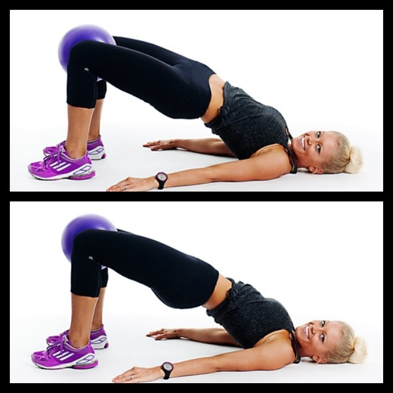 Stability Ball Glute Bridge: 17 Best Images About Fusion At Home Workouts On Pinterest