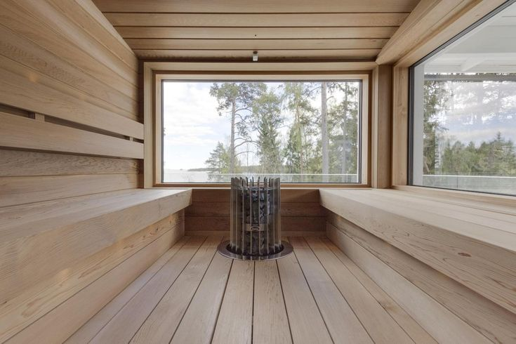 Sauna with the view.