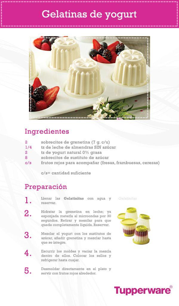 ¿Buscas un postre delicioso y saludable? ¡Las Gelatinas de Yogurt son tu mejor opción! Hazlas con Tupperware.