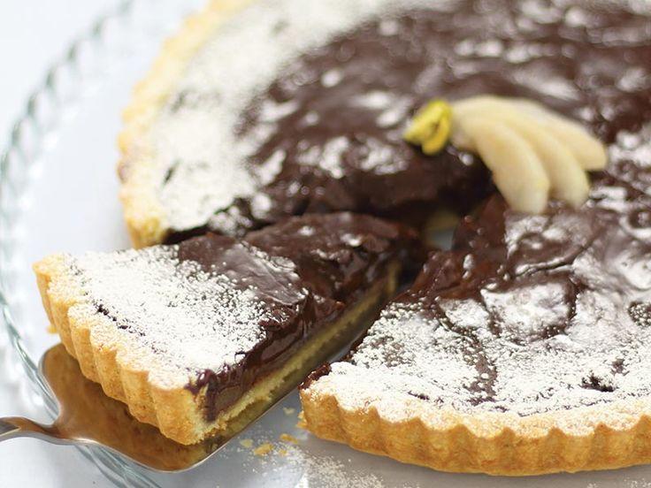 Crostata di Pere al Cioccolato e Noci