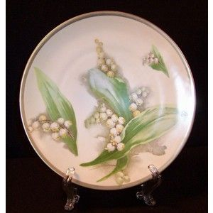 Victorian Royal Austria Porcelain Lily of the Valley Plate