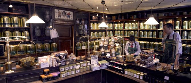 Wonderful selection of teas and beautiful tins