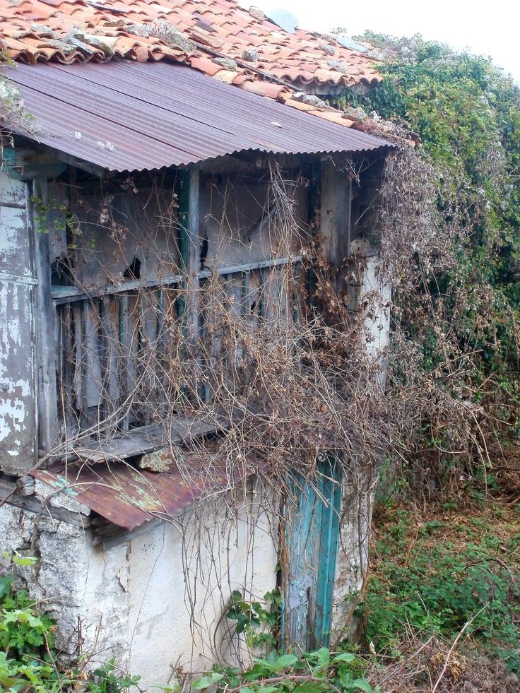House ruins, Georgitsi, Sparta in Greece.