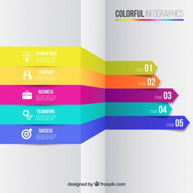 Business infographic in colorful style Free Vector