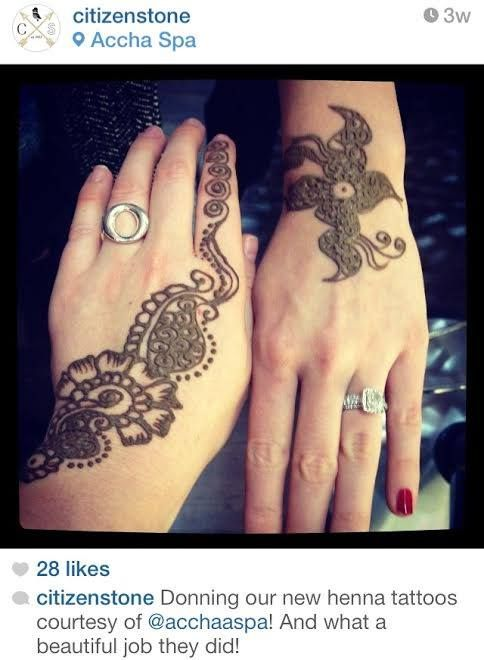 The Citizen Stone girls attended our Grand Opening and received some beautiful #henna!