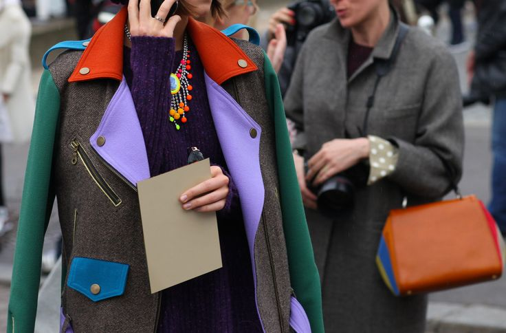 Block party - MotorX wool jacket: Winter Jackets, Paris Fashion, Vogue Paris, Colorblock, Street Style, Fashion Week, Miroslava Duma, Colors Blocks, Coats