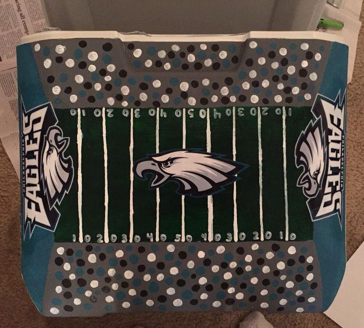 eagles football stadium sorority painted cooler