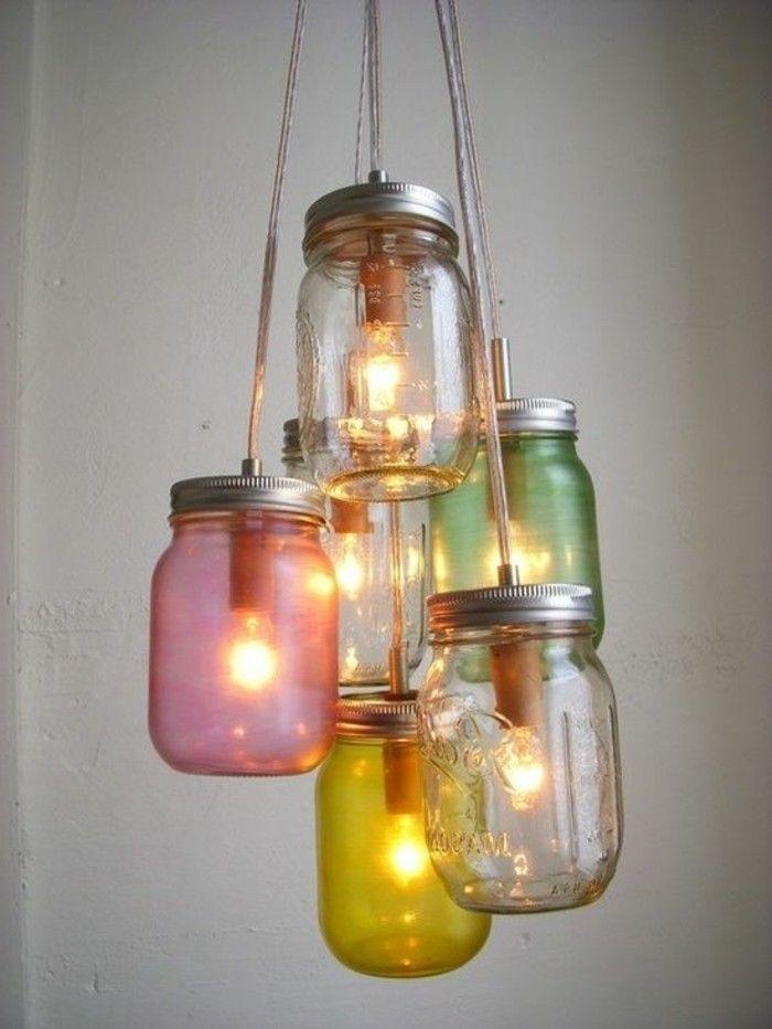 76 Bastelideen Fur Eine Super Coole Diy Lampe Archzine Net Lampen Selber Machen Einmachglaslampe Diy Lampen