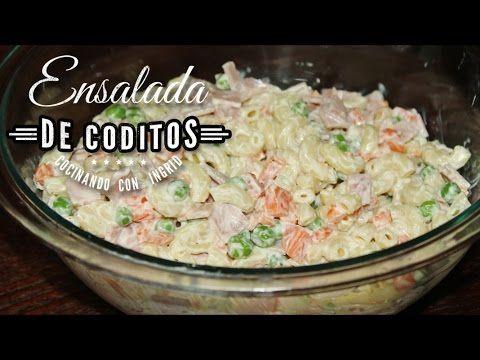 ENSALADA DE CODITOS - RECETA SALVADOREÑA