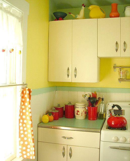 Antique Red Kitchen Cabinets: 25 Best Vintage 50's Metal Kitchen Cabinets Images On