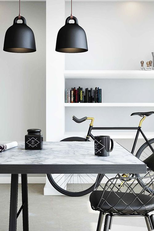 The modern home requires a bicycle close at hand for that quick ride.