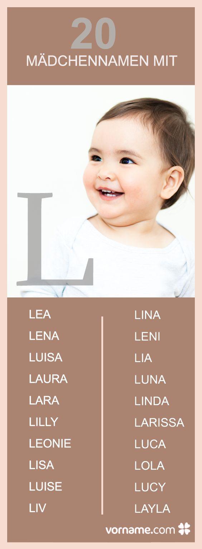 Du liebst Mädchennamen mit L? Finde hier den passenden Namen für Deine Tochter!