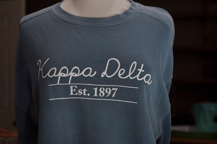 Kappa Delta Comfort Color Sweatshirt by NowGreek on Etsy