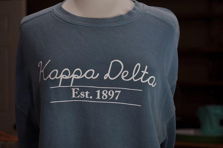 Kappa Delta Comfort Color Sweatshirt by NowGreek on Etsy