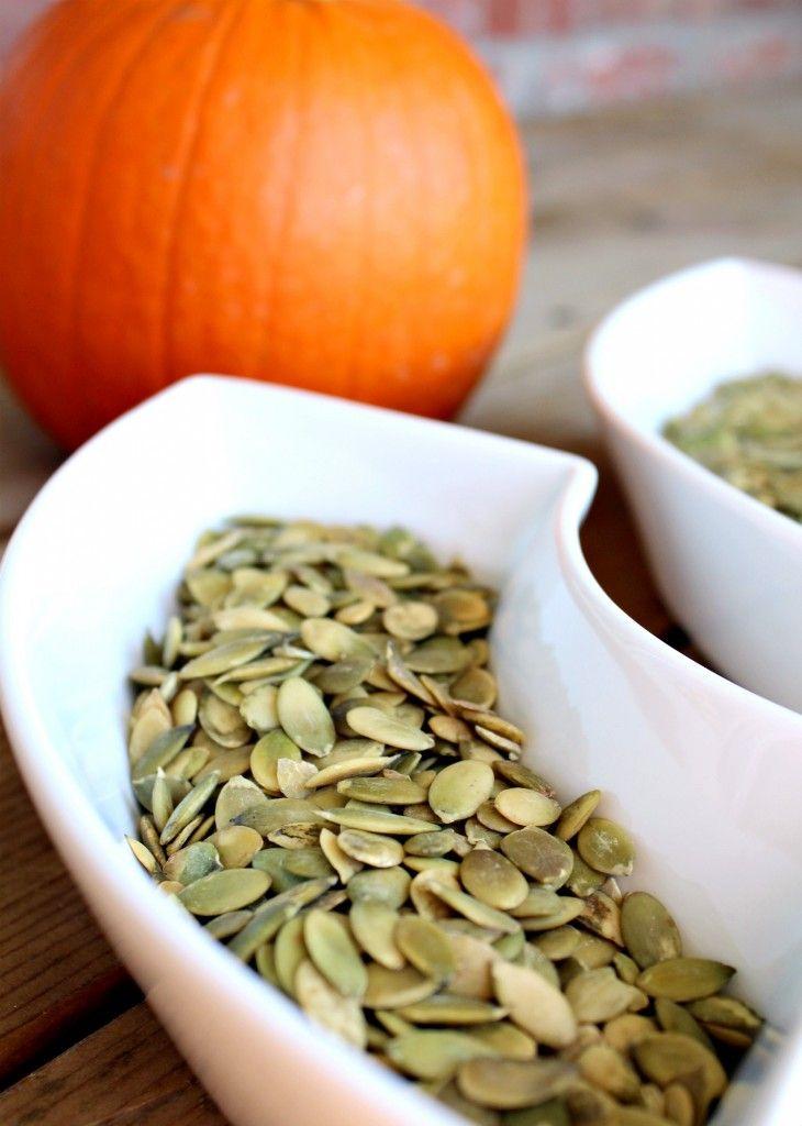 Rachel Ray- 8 ways to roast pumpkin seeds. My kids love them!