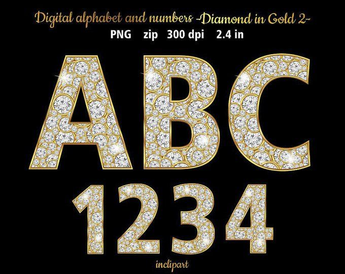 Rose Gold Alphabet Numbers With Diamonds Clip Art Letters Etsy Digital Alphabet Alphabet And Numbers Letter Symbols