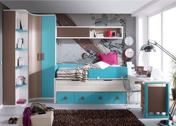 Best chambre marron turquoise ideas matkin for Acheter chambre adulte
