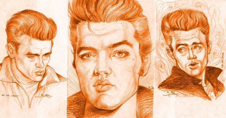 James Dean and Elvis by Tora