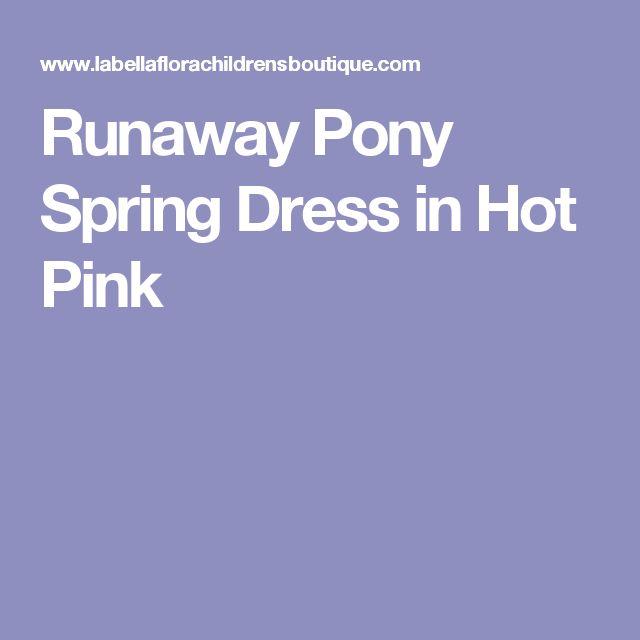 Runaway Pony Spring Dress in Hot Pink