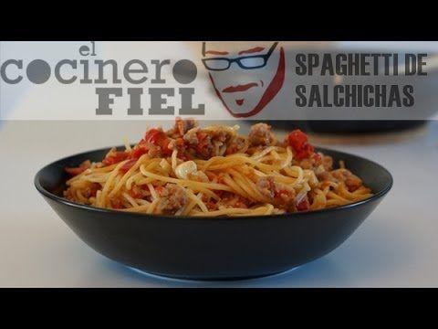 RECETA ESPAGUETI CON SALCHICHAS|El Cocinero Fiel