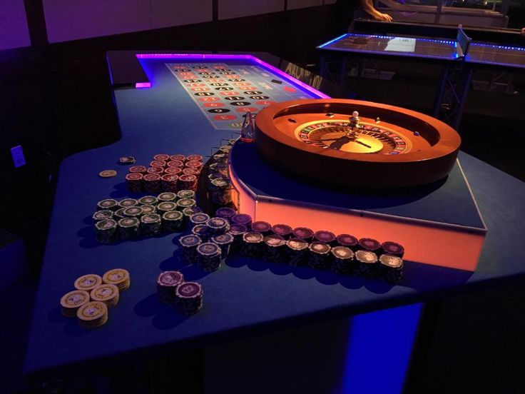 LED Roulette Table - Casino Night