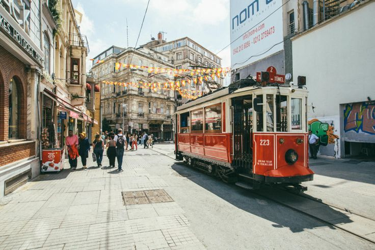 15. Karaköy's trams: This photo shows a typical street scene in Karaköy. Home to the internationally renowned İstanbul Modern, Karaköy is also the place to go to get acquainted with the city's art scene.