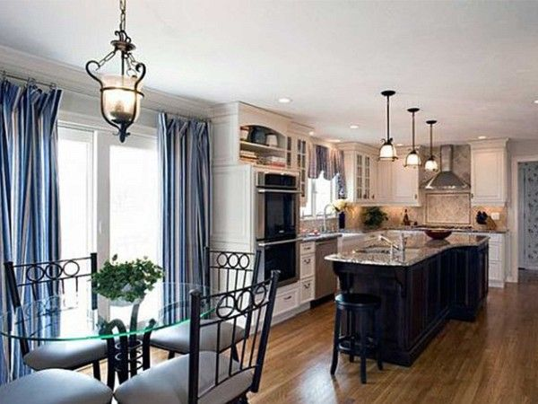 141 best dining room images on pinterest natal dining for Navy blue dining room ideas