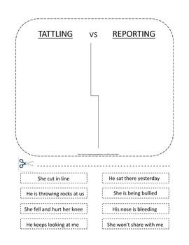 23 best tattling vs telling reporting images on pinterest behavior management school. Black Bedroom Furniture Sets. Home Design Ideas