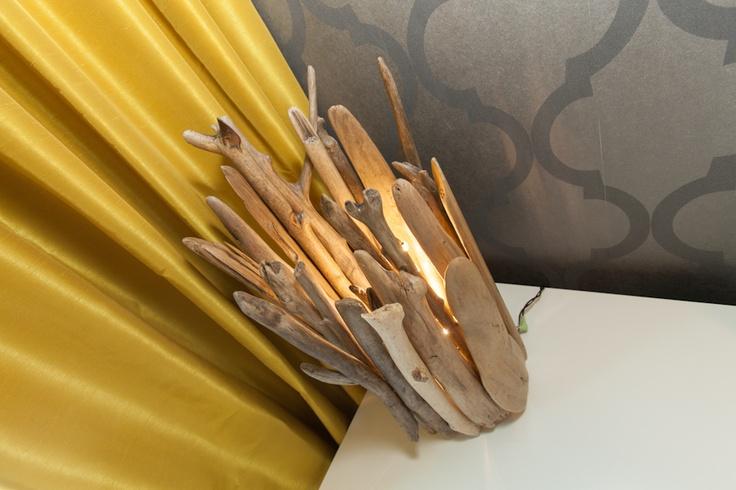 Pür cachet chez N Design Intérieur #lamp #drifwood #decor #design  http://www.purcachet.com