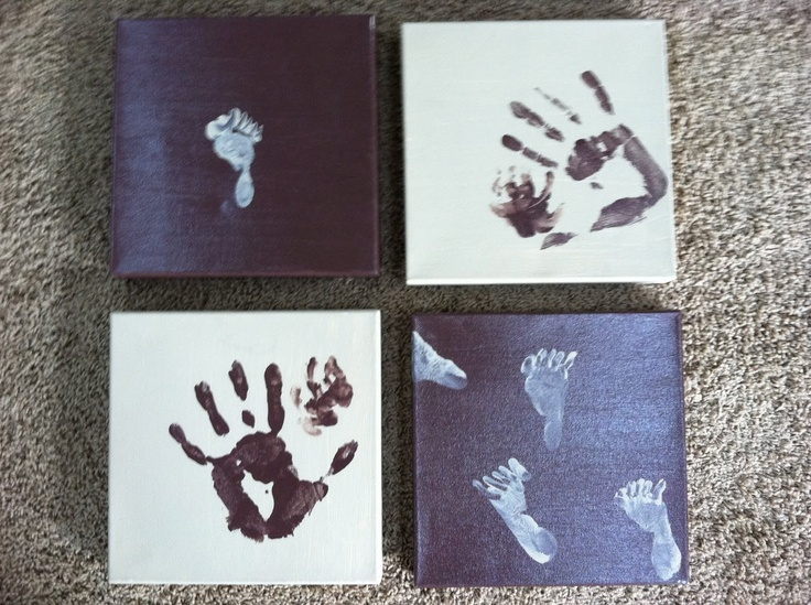 the third boob: diy art project: little hands and feet paintings