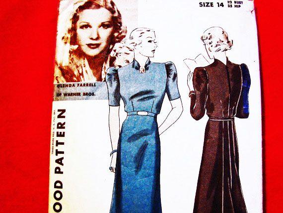Vintage Hollywood Pattern Glenda Farrell by PatternsFromThePast