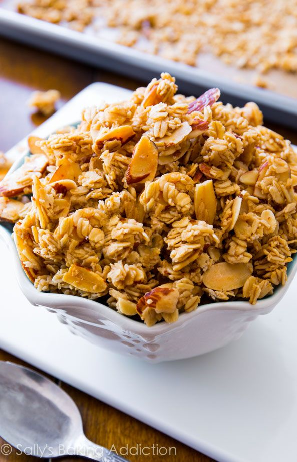 Ditch store-bought, healthy homemade granola is easy! You will love this Vanilla Almond Granola @Sally [Sally's Baking Addiction]