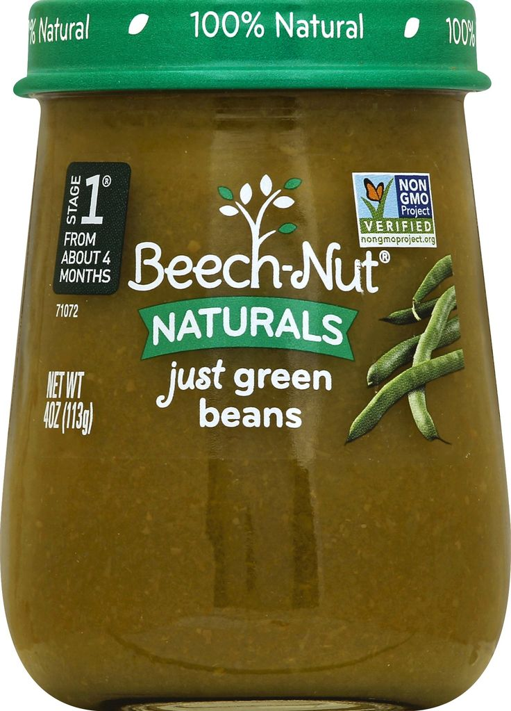 10 jars beechnut naturals baby food jar stage 1 green