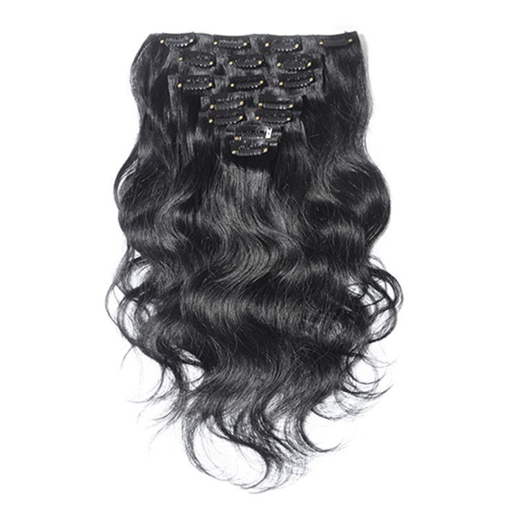 208 best clip in human hair extensions images on pinterest human 7pcs body wavy clip in remy hair extensions 1 jet black omgnb clipinremyhair pmusecretfo Choice Image