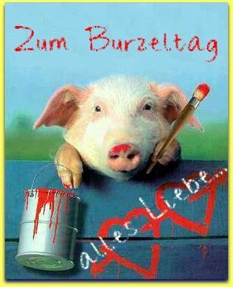 Schwein Zeichnung: Alles Liebe Zum Burzeltag!