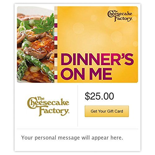 The Cheesecake Factory Dinners on Me Yellow Gift Cards  Email Delivery ** Click on the image for additional details.