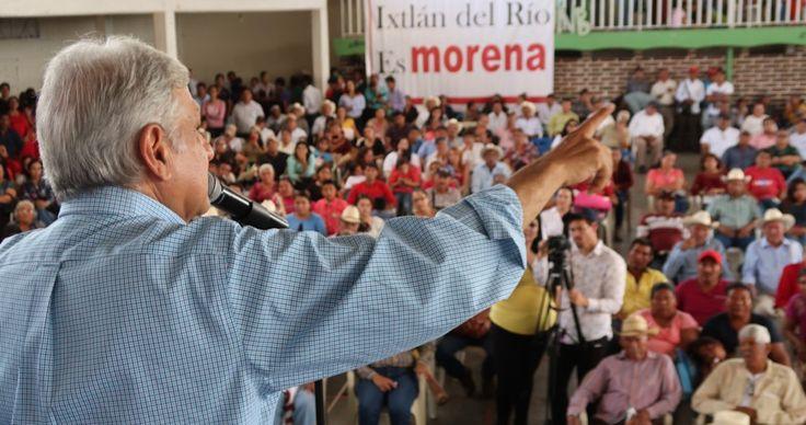 """Andrés Manuel López Obrador expresó que las declaraciones que ayer hizo el Presidente Enrique Peña Nieto sobre las próximas contiendas electorales, sólo demuestran que el Partido Revolucionario Institucional (PRI) quiene """"ganar a como dé lugar""""."""