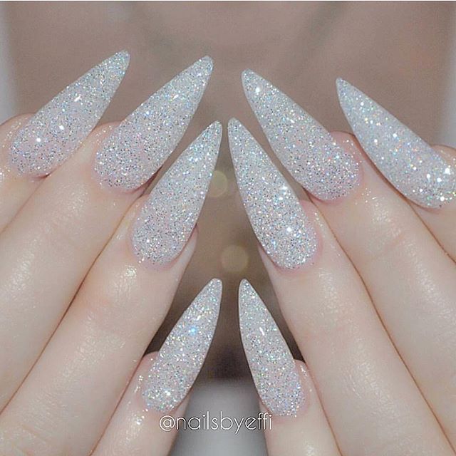 best 25 acrylic nails glitter ideas on pinterest