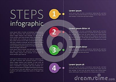 Easy modified infographic steps design for your personal or business project