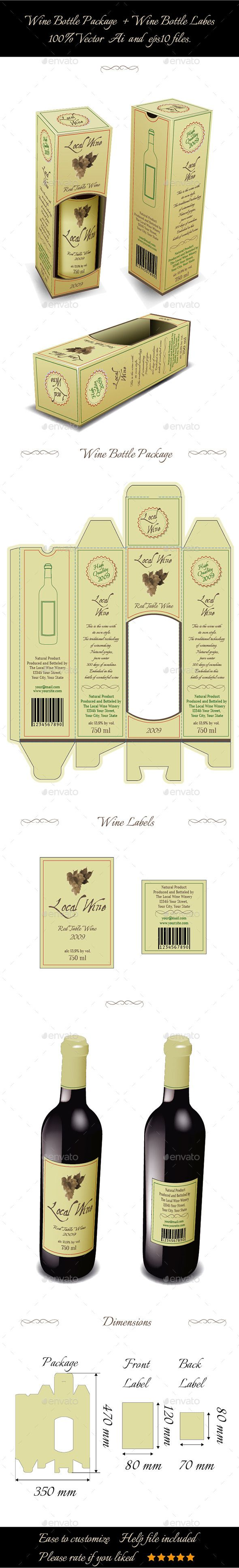 Wine Bottle Package And Bottle Labels 9153969